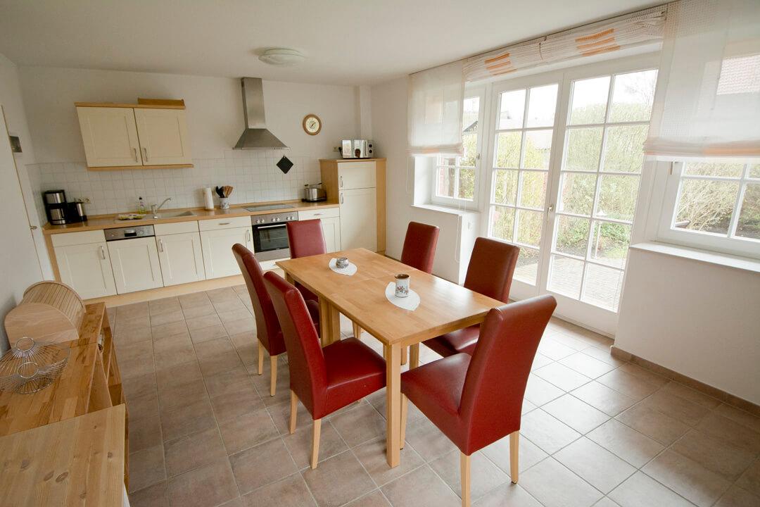 Küche in der Doppelhaushälfte